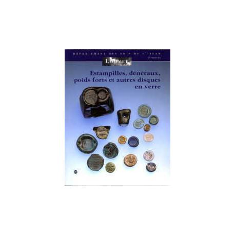 Estampilles dénéraux poids forts et autres disques en verre
