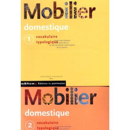 Mobilier domestique vocabulaire typologique les 2 volumes