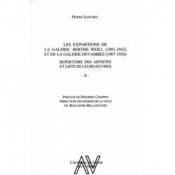 Les expositions de la galerie Berthe Weill 1901-1942 et de la galerie Devambez 1907-1926