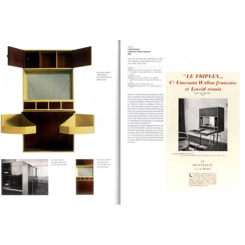 le corbusier meubles et int rieurs catalogue raisonn le puits aux livres. Black Bedroom Furniture Sets. Home Design Ideas