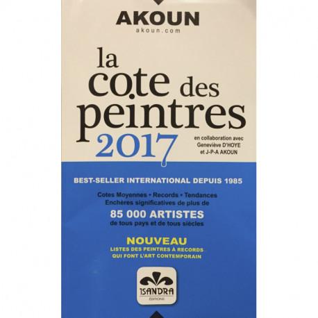 La cote des peintres 2017 - AKOUN