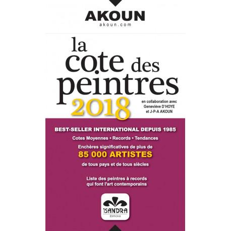 La cote des peintres 2018 Akoun