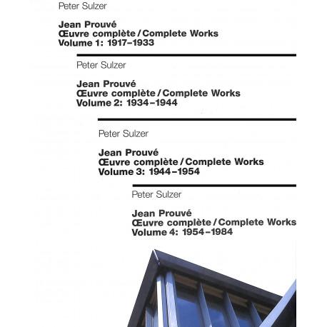Jean Prouvé l'ouvre complète vol. 1 à 4