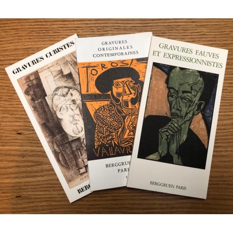 Lot de 3 ouvrages d'expositions Gravures