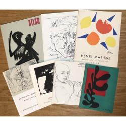 Lot de 7 catalogues d'exposition du Musée d'Art Moderne de Paris