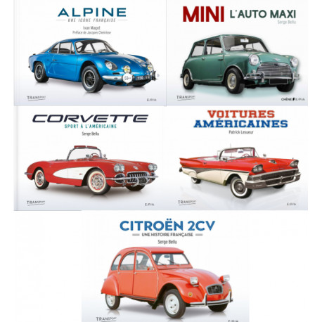 Lot de 5 ouvrages sur l'automobile - Editions EPA