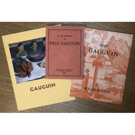 Paul Gauguin - Lot de 3 catalogues Wildenstein