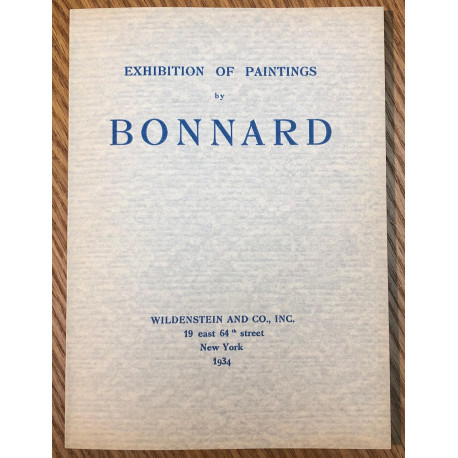 Exhibition of Paintings by Bonnard