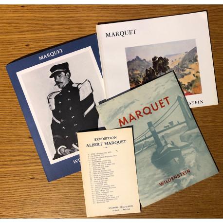 Lot de 3 catalogues d'exposition Albert Marquet - Wildenstein