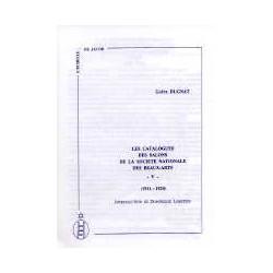 Les catalogues des salons de la sociéte nationale des Beaux-Arts vol V