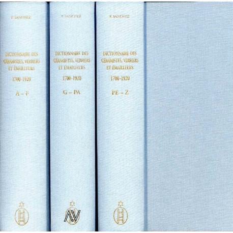 Dictionnaire des céramistes peintres sur porcelaine verre et émailleurs 1700-1920 (3 vol)