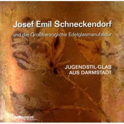 Josef Emil Schneckendorf jugendstil aus Darmstadt  ( Verre Art Nouveau )